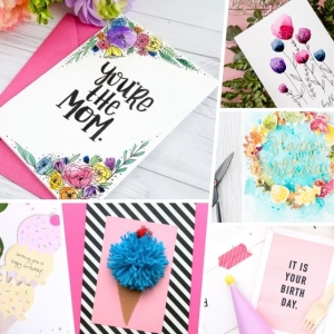 DIY birthday cards: instructions, ideas, inspirations