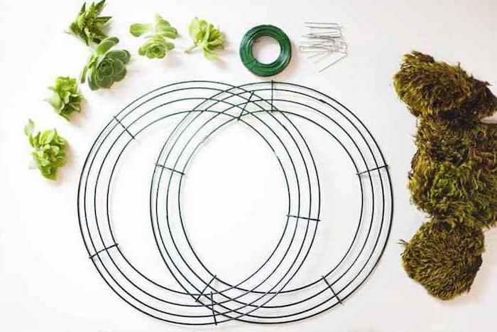 step by step, diy tutorial, housewarming gifts for men, diy succulents wreath