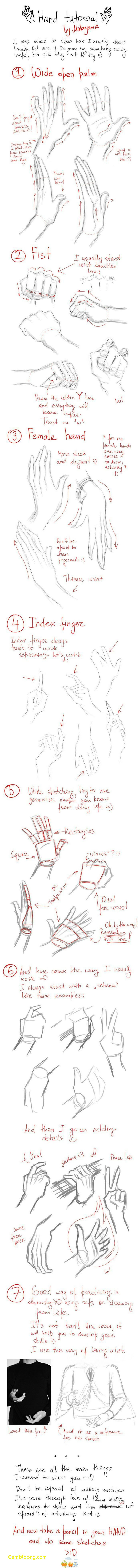 how to draw a hand, step by step, diy tutorials, easy drawings step by step, different shapes