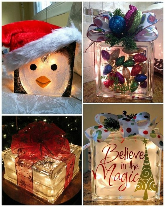 side by side photos, glass boxes, different decoration inside, creative birthday ideas for best friend