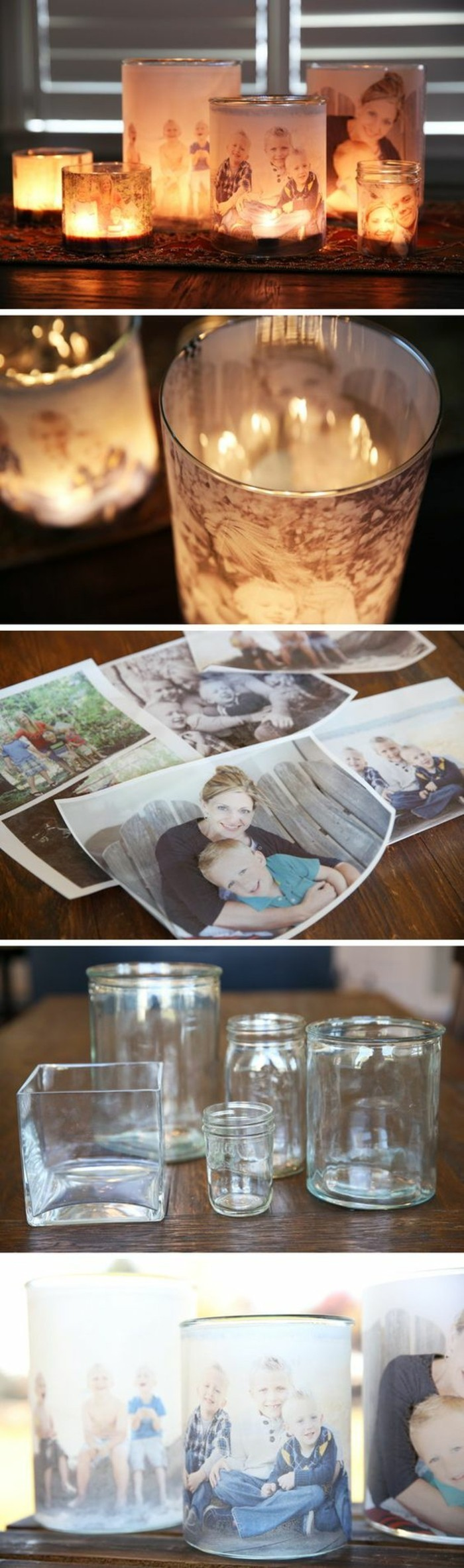 glass vase, photo candle holder, step by step, diy tutorial, creative birthday ideas for best friend