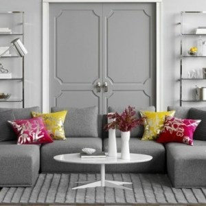 Gray and white living room, it's chic! Here are 82 photos that bear witness