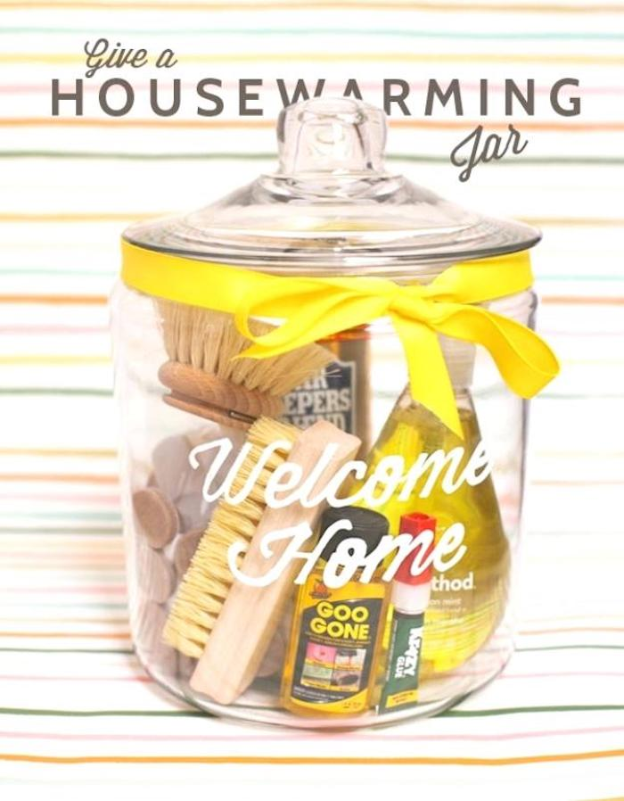 diy housewarming jar, large cookie jar, best housewarming gifts, step by step, diy tutorial