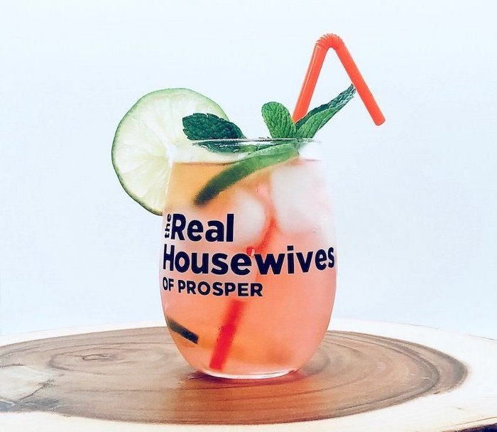 housewarming gift ideas for couple, real housewives inspired, cocktail glass