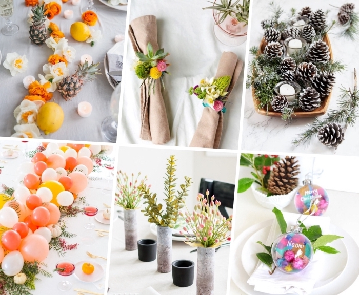 photo collage, side by side photos, table decorations, dining table decor, step by step, diy tutorials