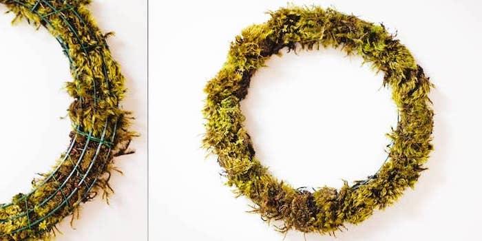 diy succulents wreath, housewarming gifts for men, step by step, diy tutorial
