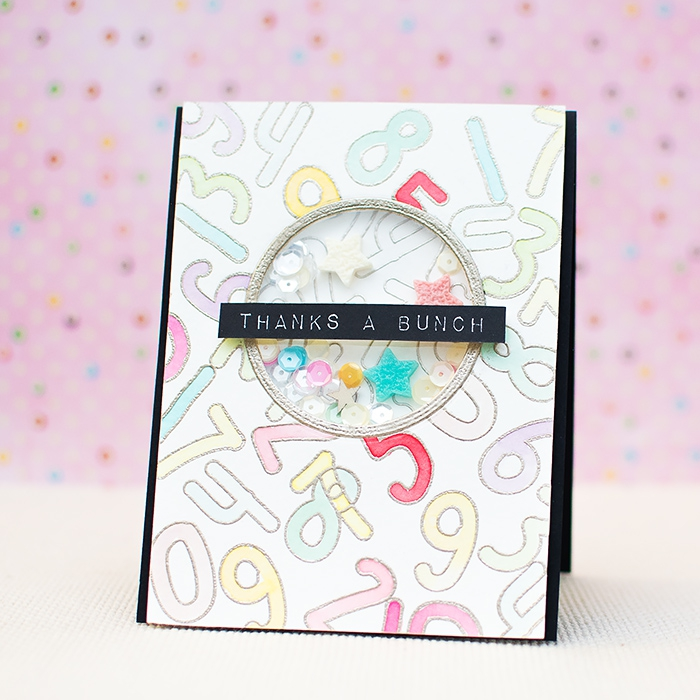 thanks a bunch, greeting card, birthday cards for best friend, white card stock, number drawn on it