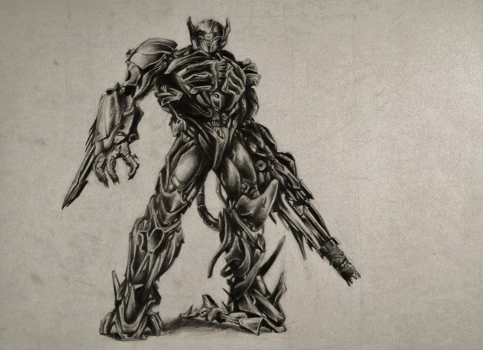 transformers robot, how to draw a face, black and white, pencil sketch
