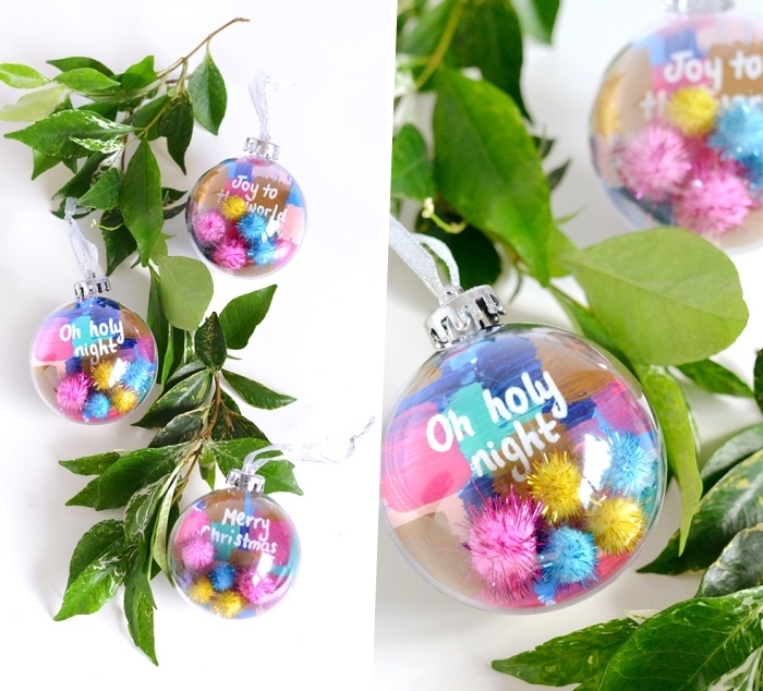 tree branches, colourful baubles, dining table centerpieces, step by step, diy tutorial, christmas theme