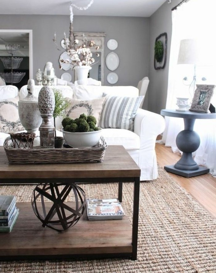 1001 Ideas For A Chic Gray And White Living Room