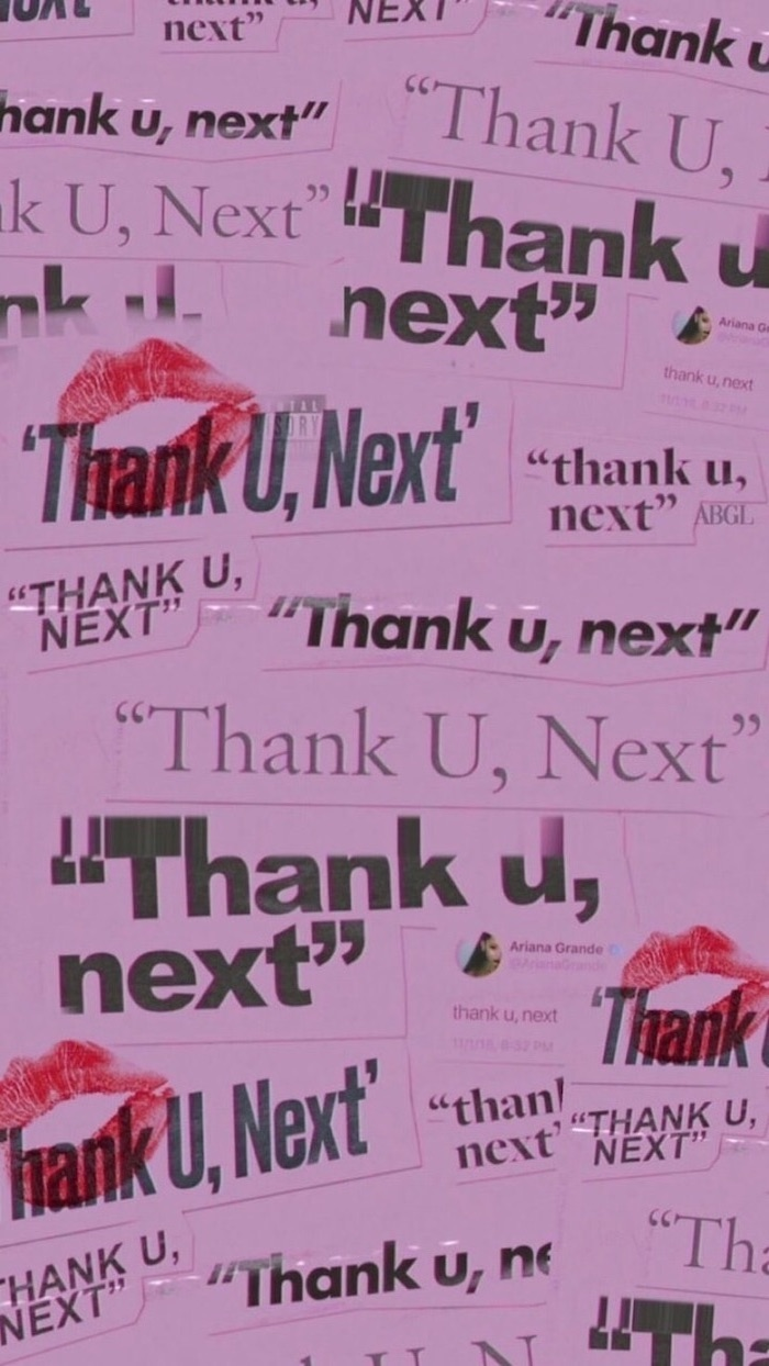 thank u next, ariana grande song, cute backgrounds, pink background