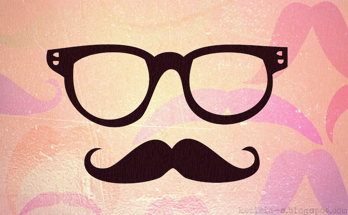 black sunglasses, black moustache, love quotes tumblr, orange background