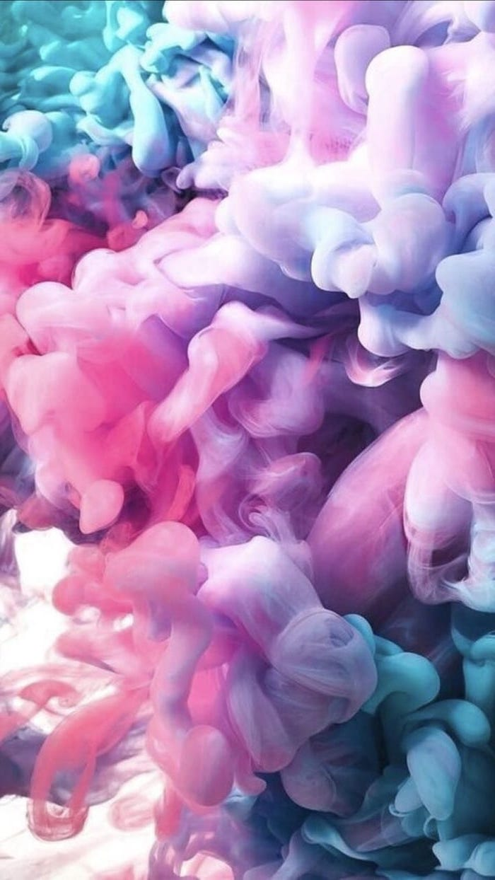 cute backgrounds, pink and purple, blue and turquoise smoke