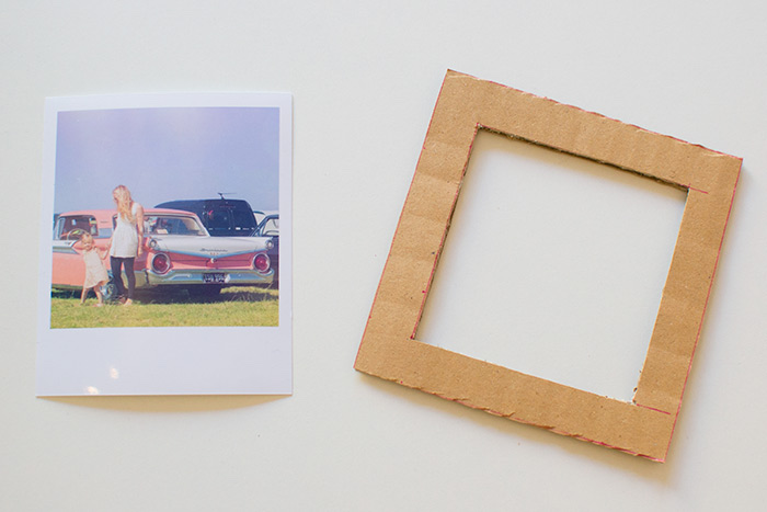 carton photo frame, polaroid photo, activities for 4 year olds, step by step, diy tutorial
