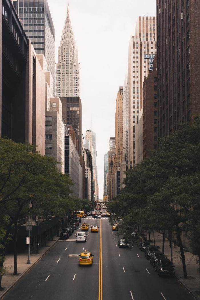 new york city, cute tumblr backgrounds, chrysler building, tall buildings, yellow taxi cabs