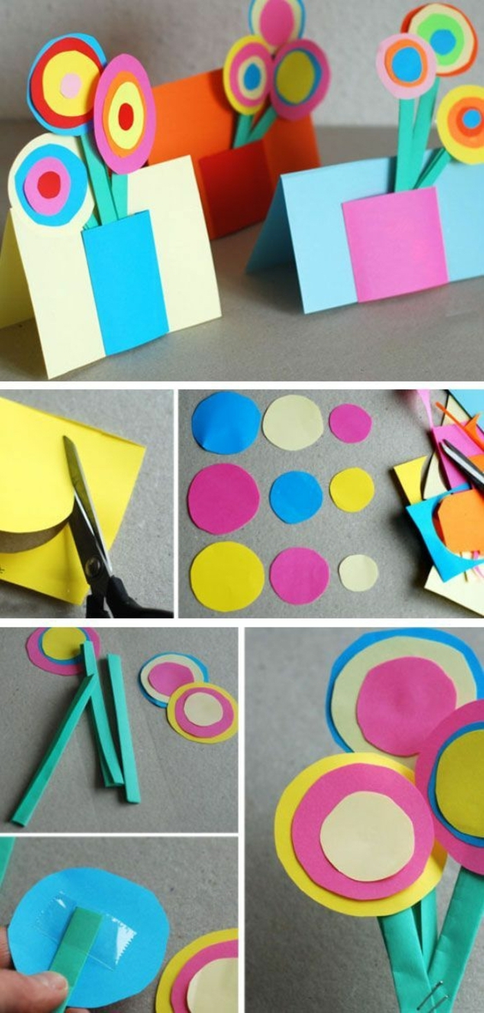 side by side, diy tutorial, literacy activities for preschoolers, greeting cards, with colourful flowers