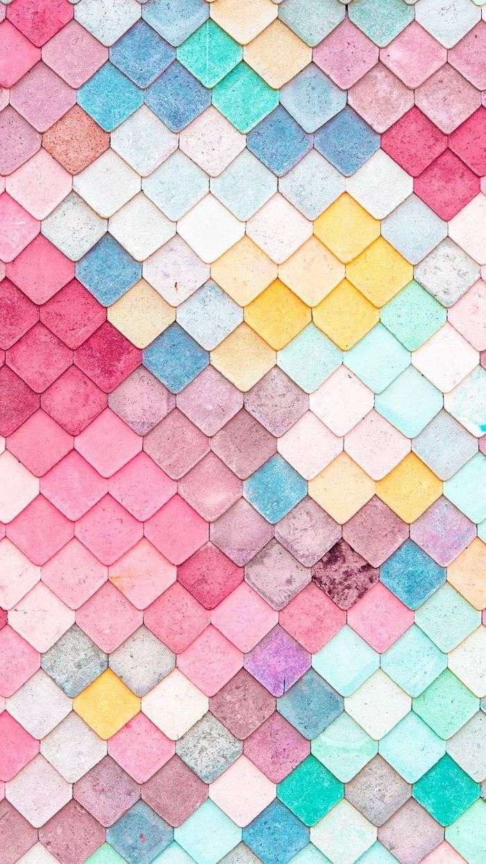 colourful tiles, arranged together, backgrounds for girls, yellow and pink, blue and green