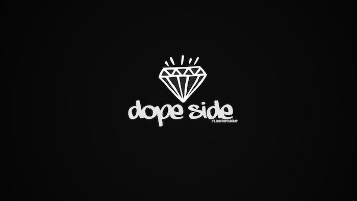 dope side, white diamond, black background, cute teen tumblr