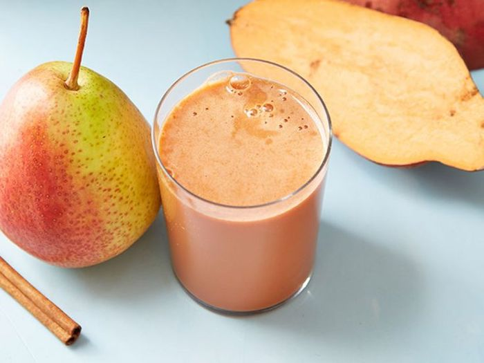 pear and cinnamon, how to make a banana smoothie, small glass