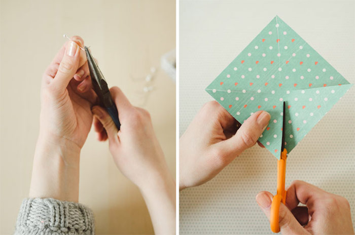side by side photos, step by step, diy tutorial, colourful paper, cutting wire, fun indoor activities for kids