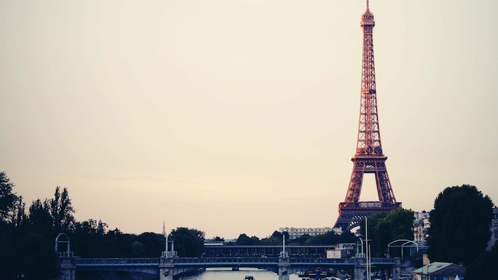 paris landscape, eiffel tower, cool backgrounds tumblr, bridge across a river