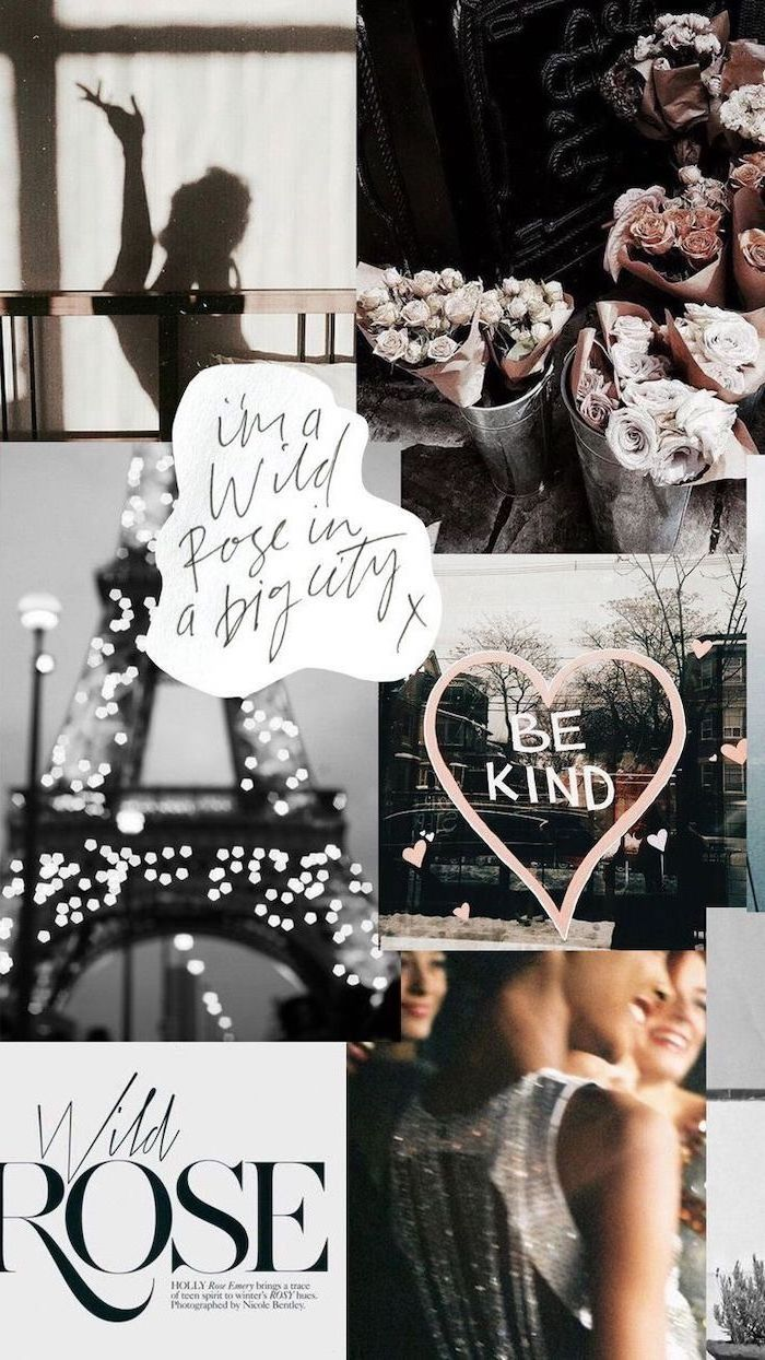 paris inspired, photo collage, cute wallpapers, motivational quotes