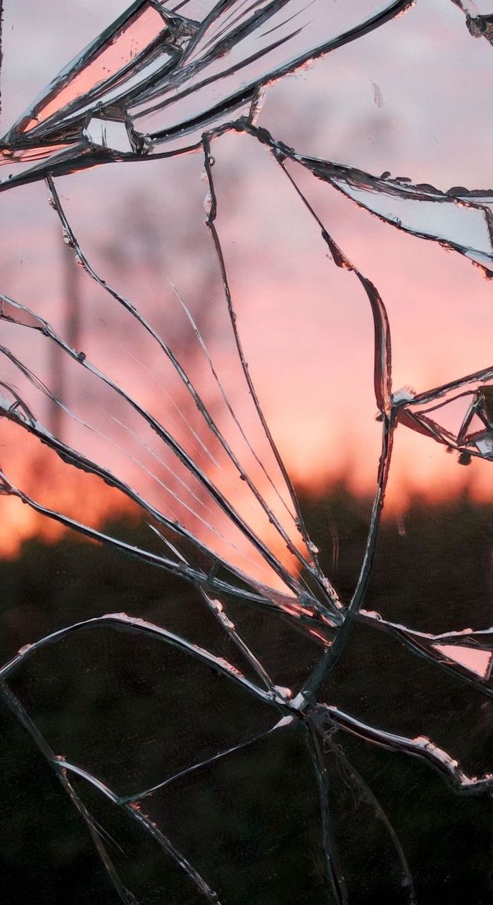 shattered glass, orange sunset, summer iphone wallpaper, cute pictures for backgrounds