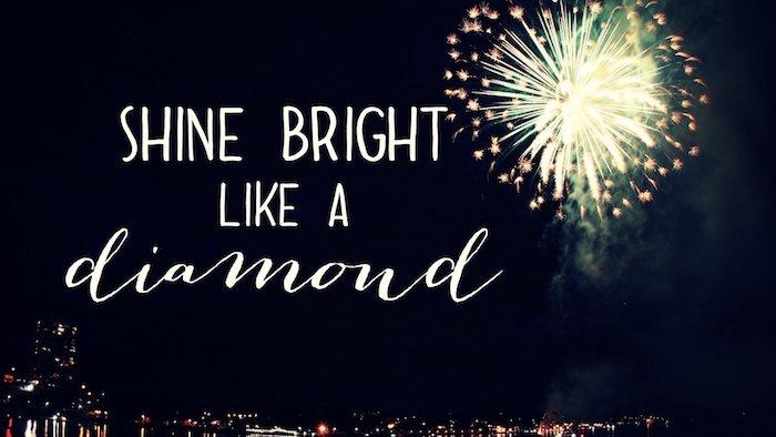 shine bright like a diamond, fireworks in the sky, flower background tumblr, night city skyline