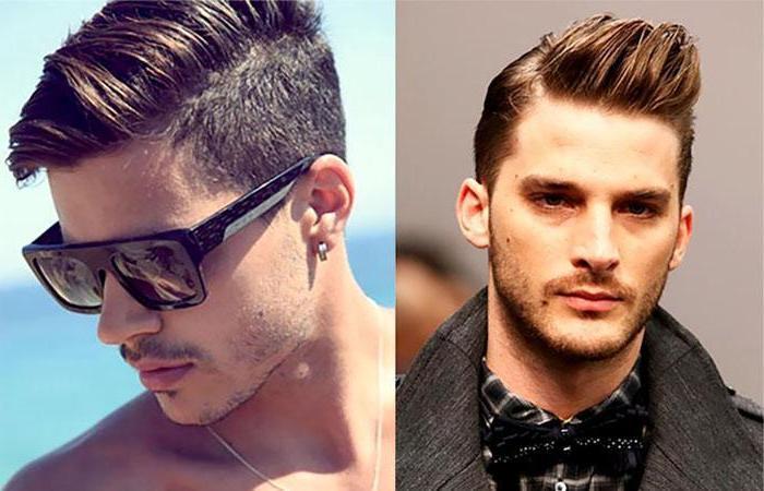 man wearing sunglasses, brown hair, medium length hair men, side by side photos