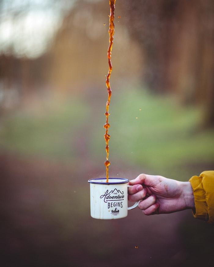 flower wallpaper tumblr, the adventure begins, coffee mug, coffee flowing up