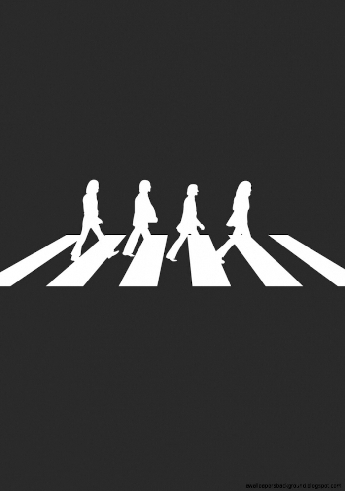 the beatles, abby road cross walk, black background, tumblr backgrounds