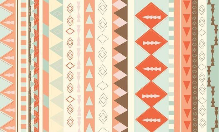 girl wallpapers for iphone, tribal shapes, colourful patterns