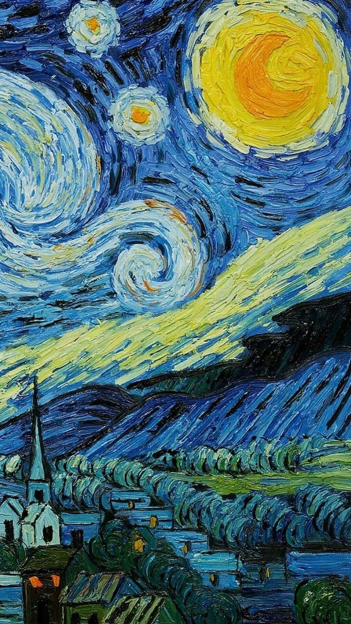 van gogh painting, cute wallpapers, starry nights