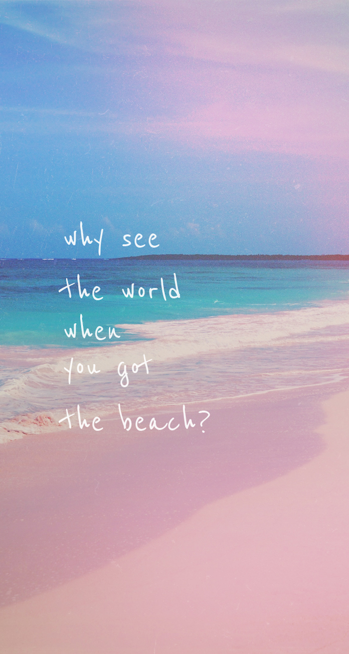 why see the world, when you got the beach, tumblr backgrounds black and white, ocean waves