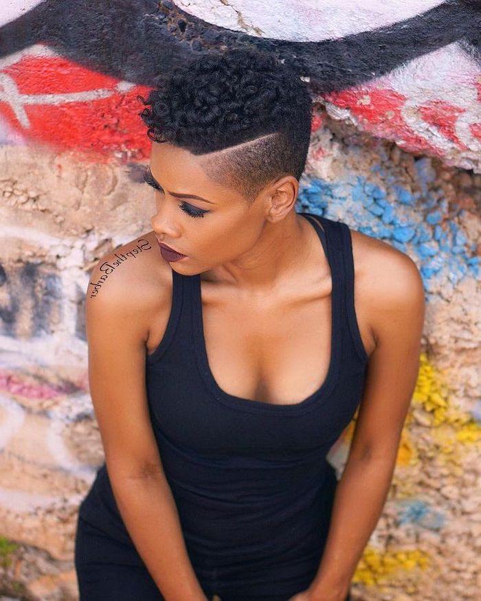 black top, african american short hairstyles, black hair undercut, graffiti wall