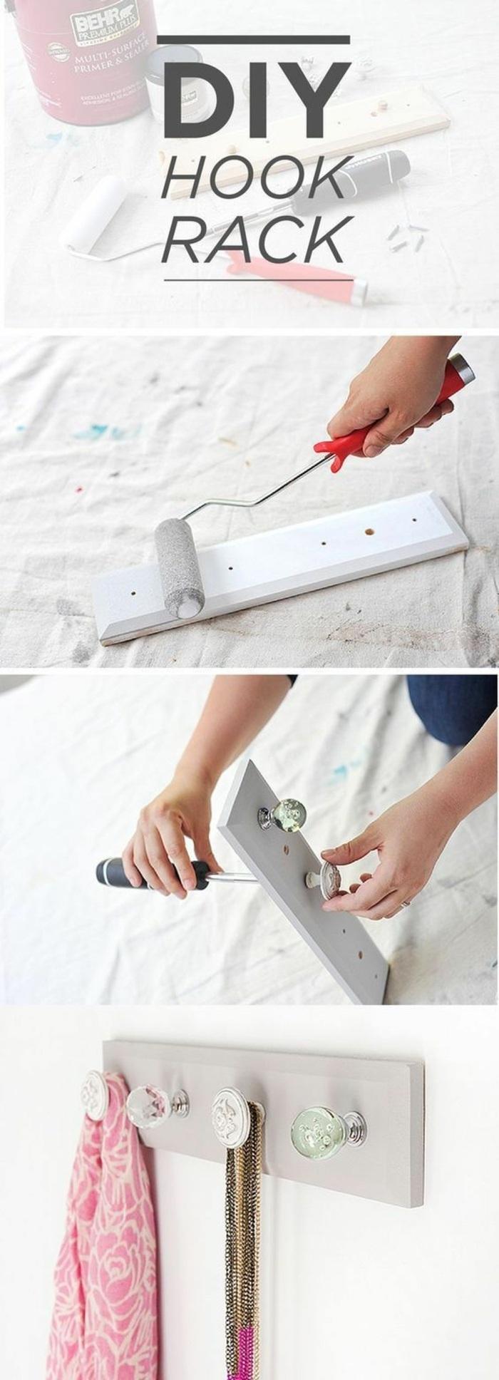 hook rack, vintage knobs, diys for girls, step by step, diy tutorial, wooden board