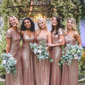 Turn heads with these stunning gold bridesmaid dresses
