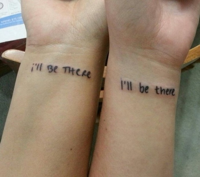 i'll be there, friends inspired, wrist tattoos, best friend tattoo ideas