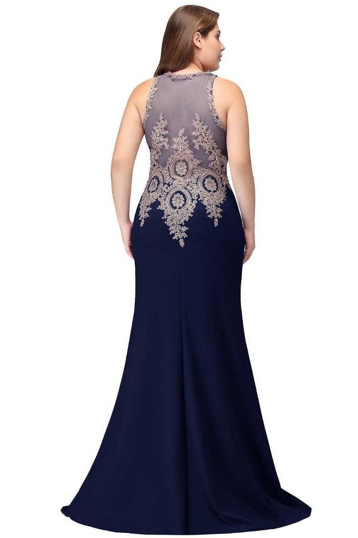 navy blue skirt, lace and tulle top, mother of the bride dresses for beach wedding, blonde wavy hair