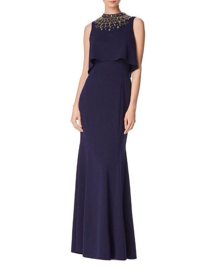 long dress, navy blue, gold sequins, mother of the bride dresses with jackets, white background
