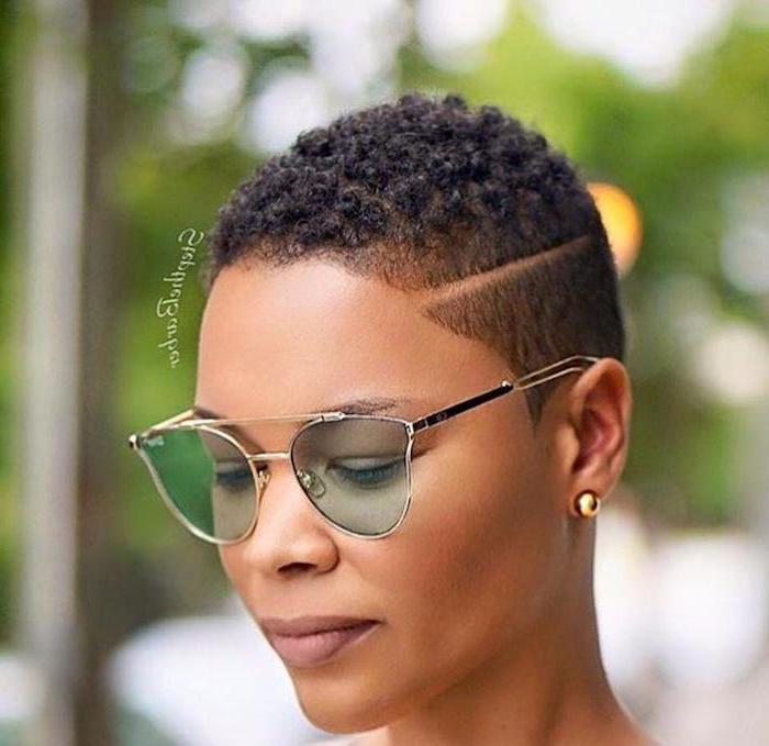 small gold earrings, buzz cut, cute short haircuts for women