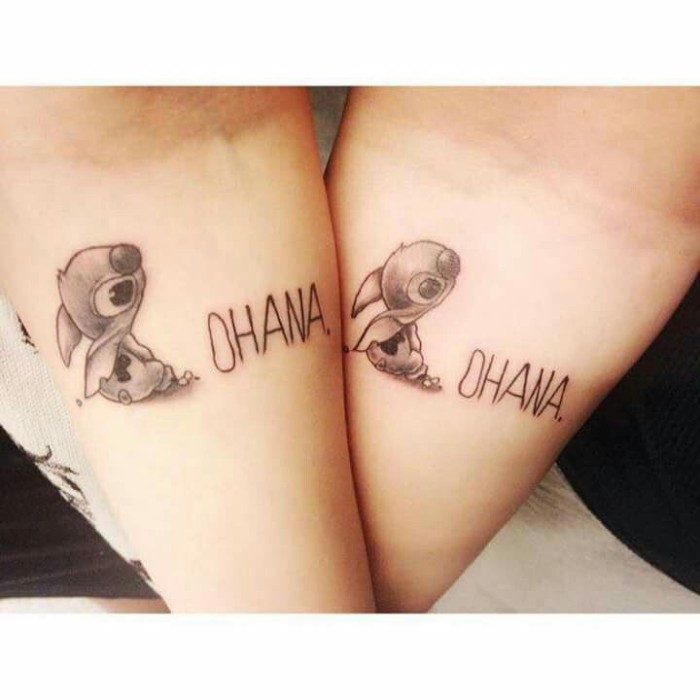 ohana tattoo, cute best friend tattoos, forearm tattoos