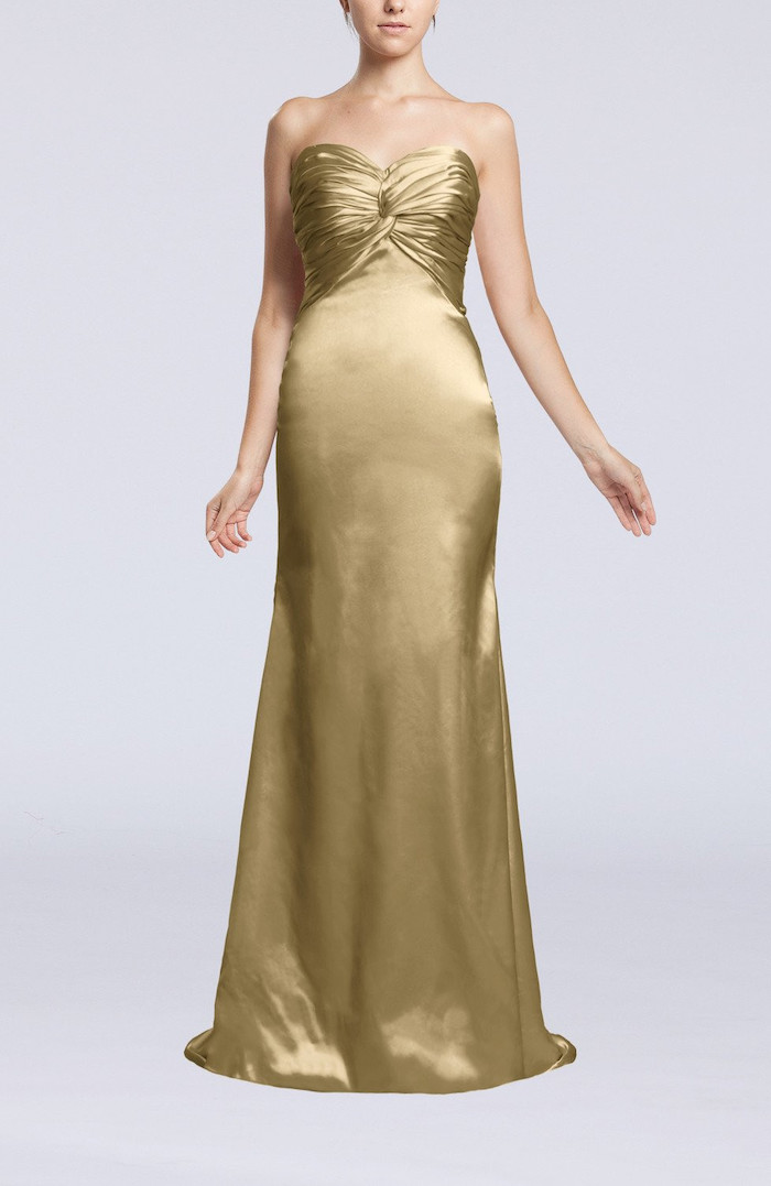 satin strapless dress, sparkly bridesmaid dresses, white background