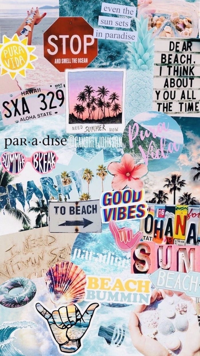 photo collage, beach vibes, beach photos, cute backgrounds, good vibes