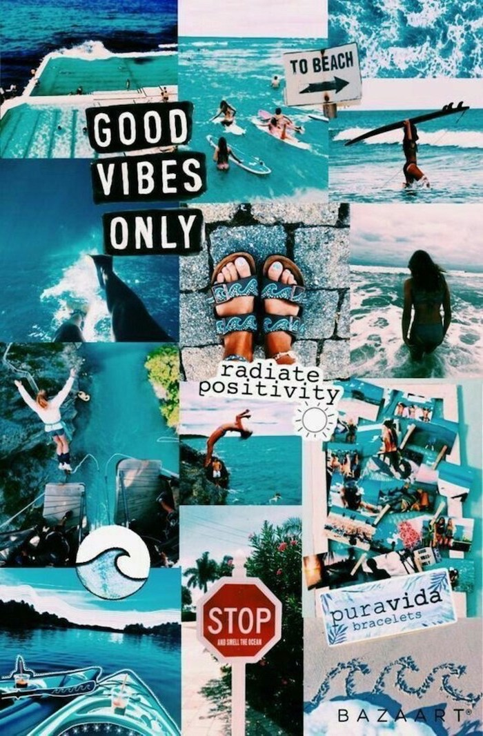 good vibes only, cute iphone wallpaper, photos from the beach, positive vibes