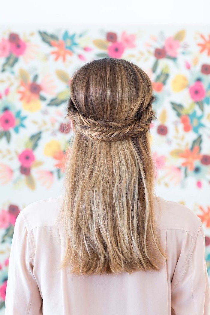 floral wallpaper, african braids hairstyles pictures, blonde hair, two braids, pink shirt