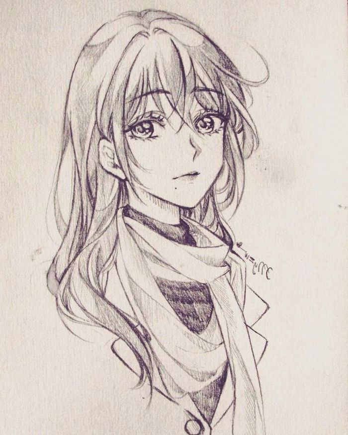 pencil sketch, black and white, how to draw anime boy, girl drawing