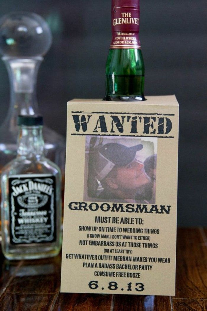 glenlivet whiskey, wanted poster, personalised groomsmen gifts, wooden table