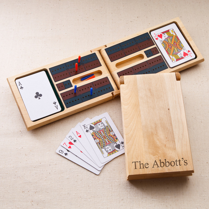 wooden box, personalised groomsmen gifts, with name, deck of cards, playing game