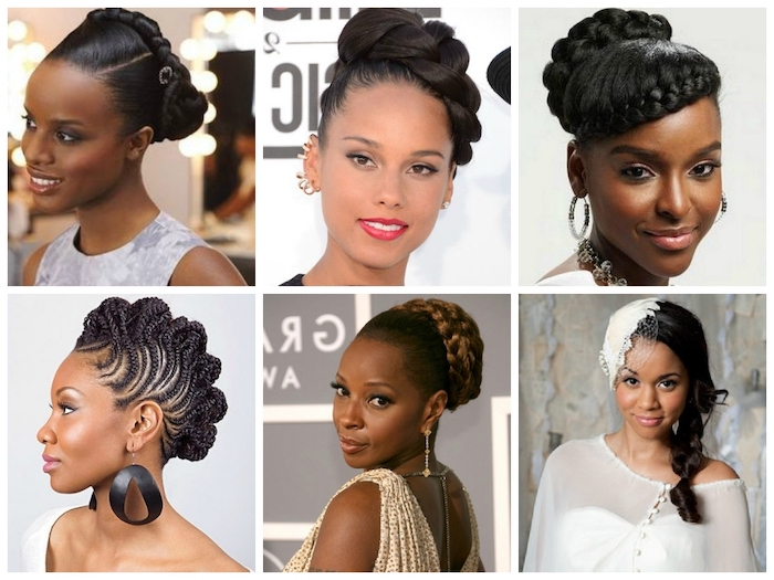 easy braid hairstyles, different hairstyles, black hair, braided updos, alicia keys, mary j blige